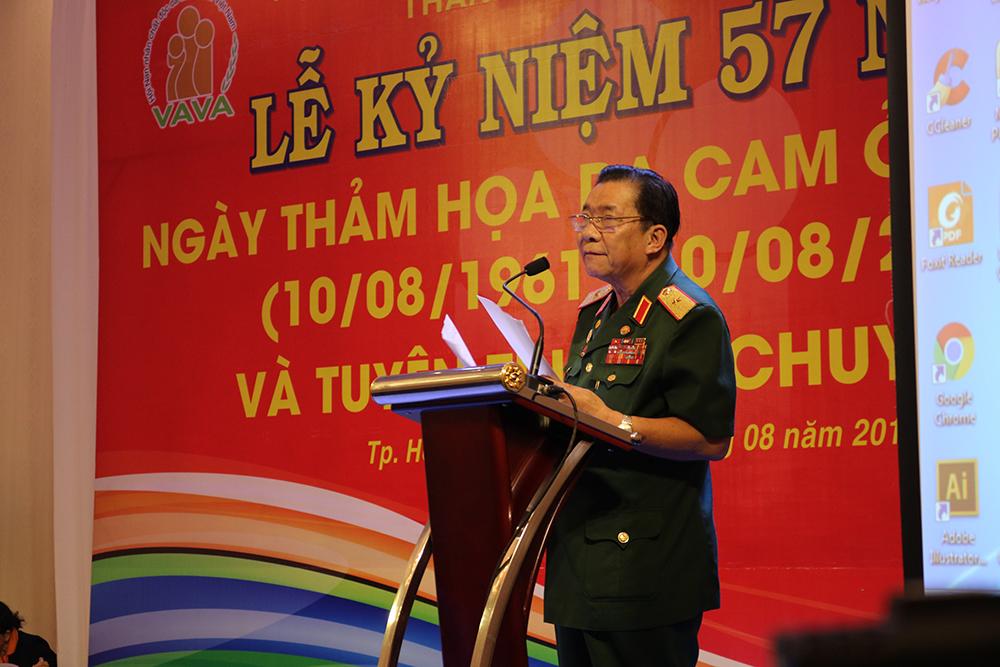 Thiếu tướng Trần Ngọc Thổ phát biểu 57 năm thảm họa da cam